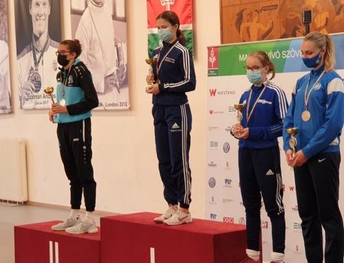 Remekül teljesítettek a debreceni vívók a Magyar Kupán  – Nagy Blanka Virág bravúros vívással a harmadik helyet szerezte meg